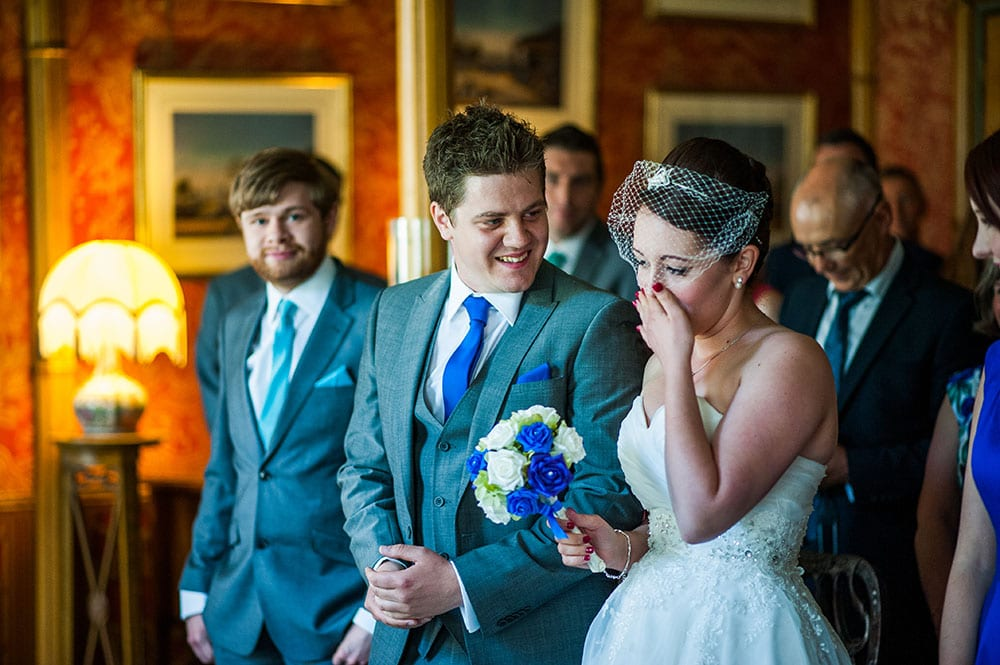 emotional first look at brighton wedding