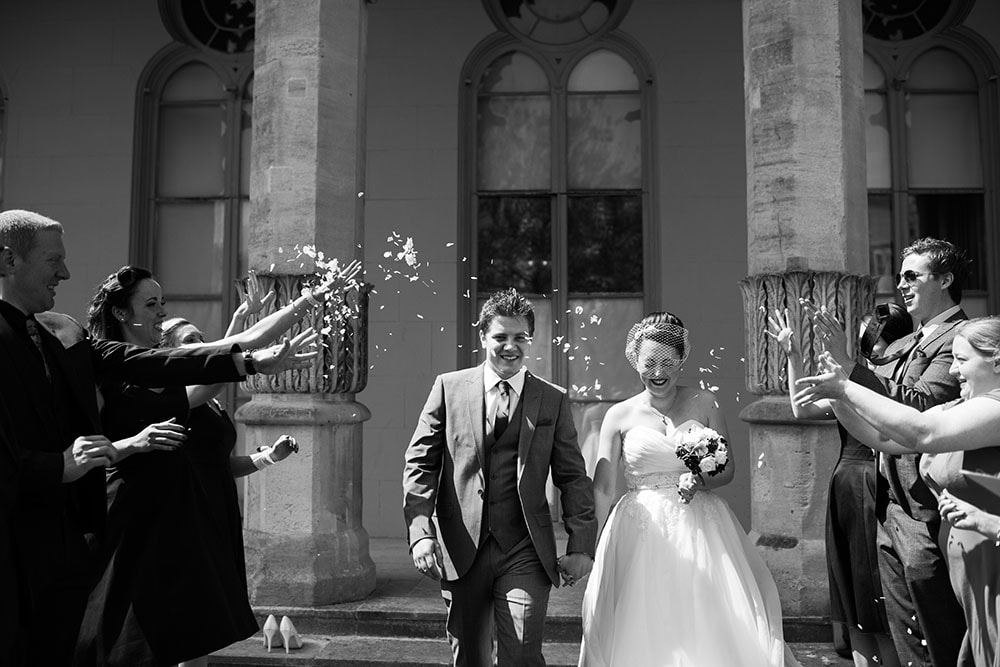 confetti at royal pavilion wedding