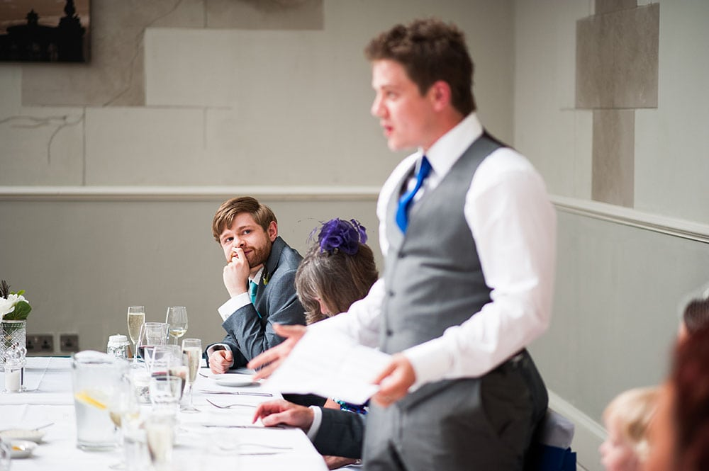 grooms speech at brighton wedding