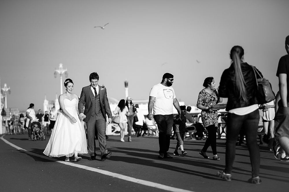brighton wedding walk